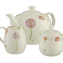 Aynsley China - Bloom teapot sugar and cream set