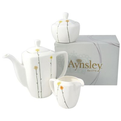 Aynsley China White \'Daisychain\' Beverage Set   Debenhams
