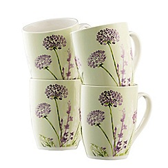 Aynsley China - Floral spree 4 mugs set