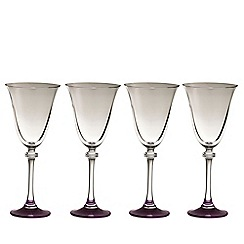 Galway Living - Liberty set of four amethyst goblets