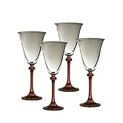Galway Living - Liberty set of four red wine goblets