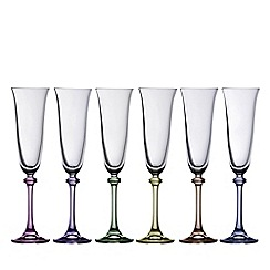 Galway Living - Liberty party pack of six flute glasses