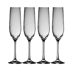 Galway Living - Erne set of four champagne flutes