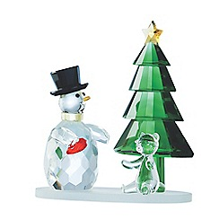 Galway Living - Magical snowman and green tree ornament