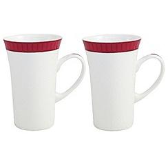 Belleek Living - White Madison pair of Latte mugs