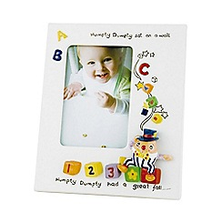 Aynsley China - Ivory 'Nursery' Humpty Dumpty photo frame