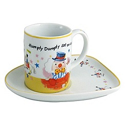 Aynsley China - Humpty Dumpty Milk Cup and Biscuit Tray
