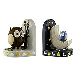 Aynsley China - Day & night owl bookends