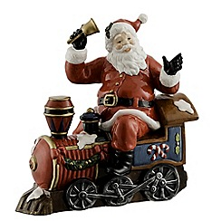 Aynsley China - Santa on Train Figurine