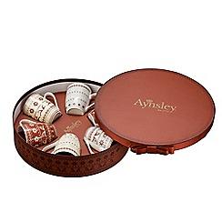 Aynsley China - Fairisle set of 6 mugs in a hat box