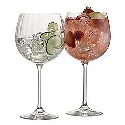 Galway Crystal - Erne set of 2 crystal gin glasses