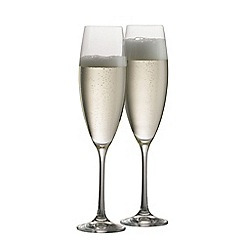 Galway Crystal - Elegance pair of Prosecco/Champagne glasses