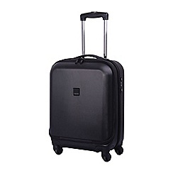 Tripp - Black 'Lite' 4 wheel dual access cabin suitcase