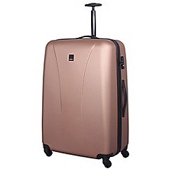 Tripp - Rose gold 'Lite' 4 wheel large suitcase