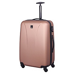 Tripp - Rose gold 'Lite' 4 wheel medium suitcase