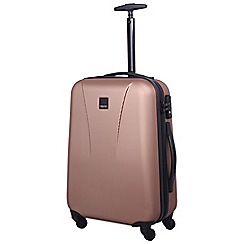 Tripp - Rose gold 'Lite' 4 wheel cabin suitcase