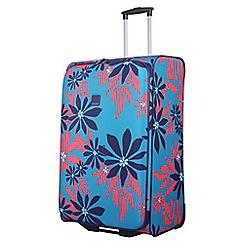Tripp - Ultramarine/poppy 'Sunshine flower' large 2 wheel suitcase