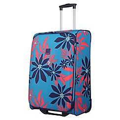 Tripp - Ultramarine/poppy 'Sunshine Flower' medium 2 wheel suitcase