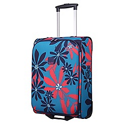 Tripp - Ultramarine/poppy 'Sunshine Flower' cabin 2 wheel suitcase