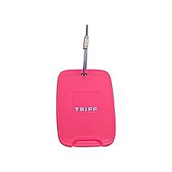 Tripp - Raspberry 'Accessories' luggage tag