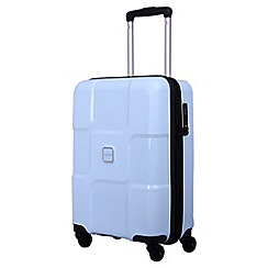 Tripp - Ice blue 'World' cabin 4 wheel suitcase