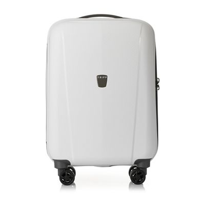 tripp white 39 ultimate lite ii 39 cabin 4 wheel suitcase. Black Bedroom Furniture Sets. Home Design Ideas