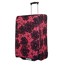 Tripp - Rose pink ' Outline Pansy' 2 wheel large suitcase