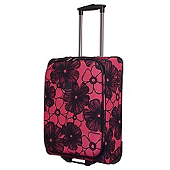 Tripp - Rose pink 'Outline Pansy' 2 wheel cabin suitcase