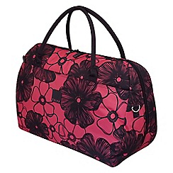 Tripp - Rose pink ' Outline Pansy' large holdall