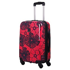 Tripp - Rose /navy 'Pansy Hard' 4 wheel cabin suitcase