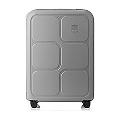 Tripp - Dove grey 'Superlock II' 4 wheel medium suitcase