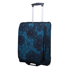Tripp - Ultramarine and black 'Outline Pansy' 2 wheel cabin suitcase