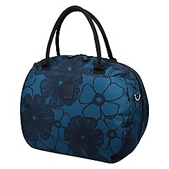 Tripp - Ultramarine and black 'Outline Pansy' holdall