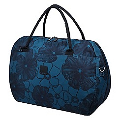 Tripp - Ultramarine and black 'Outline Pansy' large holdall