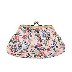 The Vintage Cosmetic Company - 'Pink Floral Satin' cosmetic clutch bag
