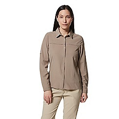 Craghoppers - Beige nosilife pro long sleeved shirt