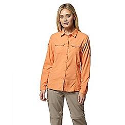 Craghoppers - Orange nosilife adventure long sleeved shirt