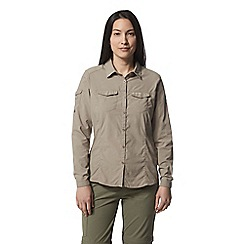 Craghoppers - Beige nosilife adventure long sleeved shirt