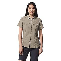 Craghoppers - Beige nosilife adventure short sleeved shirt