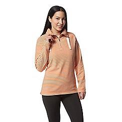 Craghoppers - Orange 'Rhonda' half zip fleece