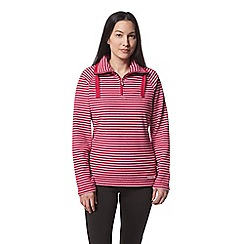 Craghoppers - Pink 'Rhonda' half zip fleece