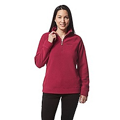 Craghoppers - Pink ambra half zip fleece