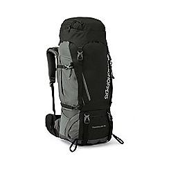 Craghoppers - Black 70l water resistant hooded rucksack
