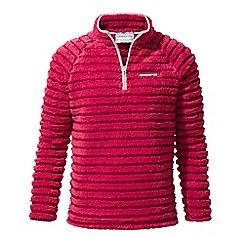 Craghoppers - Bright pink 'Appleby' half zip fleece