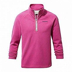 Craghoppers - Pink 'Beyla' half zip fleece jacket