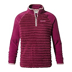 Craghoppers - Pink 'Maddiston' half zip fleece