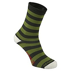 Craghoppers - Green 'Nosilife' kids travel socks twin