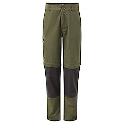 Craghoppers - Green 'Kiwi' convertible trousers