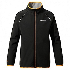 Craghoppers - Kids black Discovery adventures softshell jacket