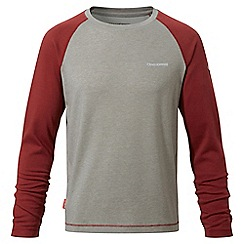 Craghoppers - Boys carmine red Nosilife barnaby long sleeved t-shirt